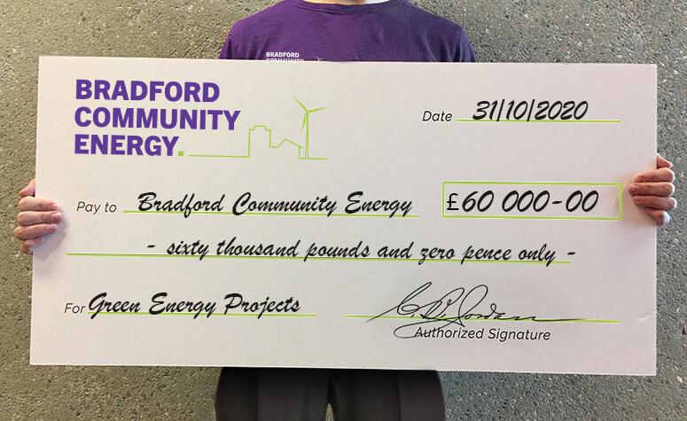 Bradford Community Energy solar panels free up funds for community projects